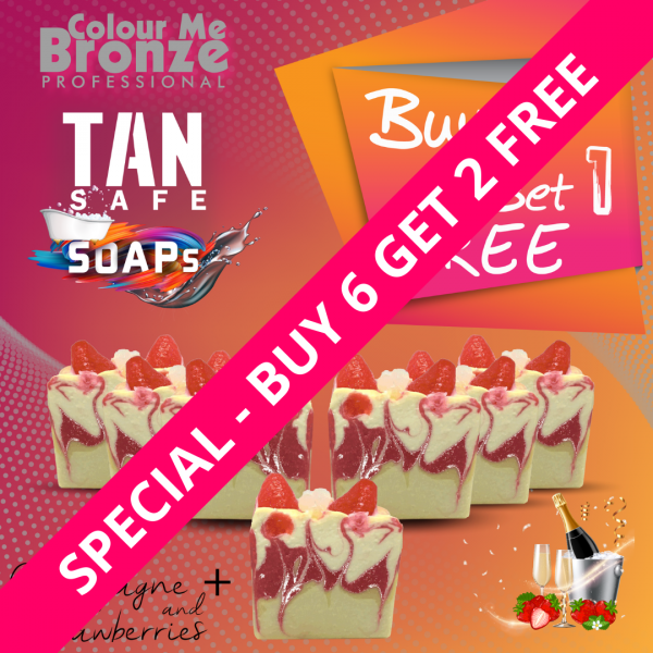 TANsafe Soaps – Champagne & Chocolate – Buy 6 Get 2 Free