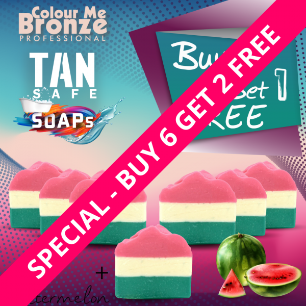 TANsafe Soap – Watermelon – Buy 6 Get 2 Free