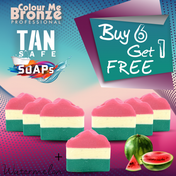TANsafe Soap – Watermelon – Buy 6 Get 1 Free