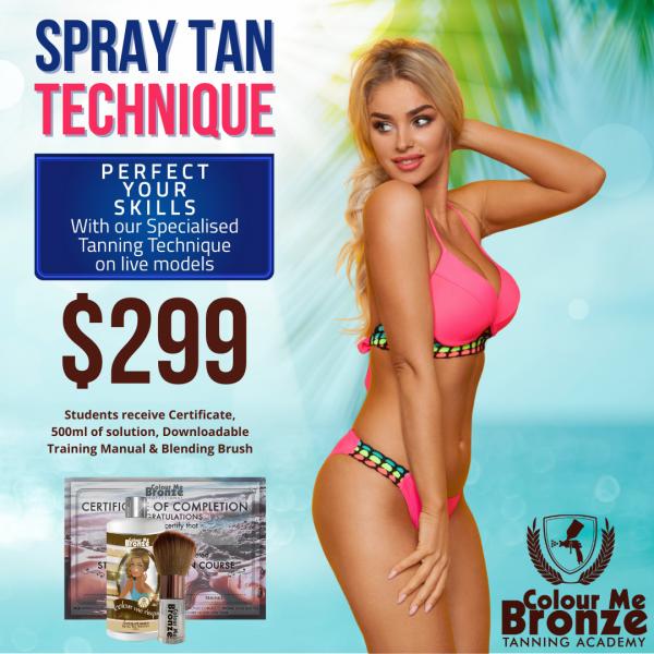 Colour Me Bronze Tanning Academy – Spray Tan Technique
